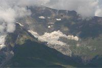 Grossglockner Hochalpenstrasse Blick nach unter auf eine Gletsjer