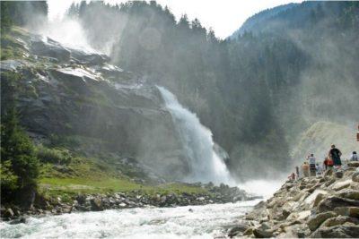 Krimmler Wasserfalle im Sommer