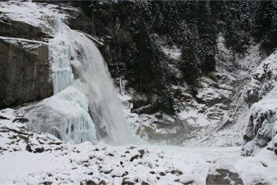 Krimmler Wasserfalle im Winter